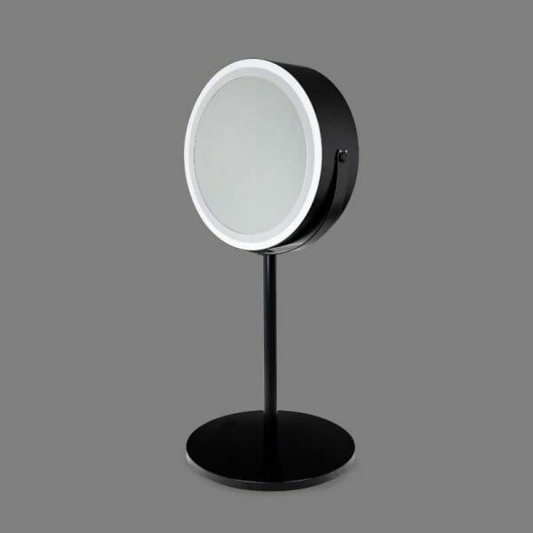 foto lustro okrągłe czarne